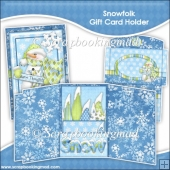 Snowfolk Gift Card Holder & Envelope