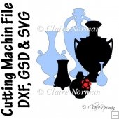 Victorian Style Vase and Amphora Cutting Machine File GSD SVG DX