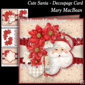 Cute Santa - Decoupage Card
