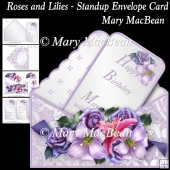 Roses and Lilies - Stand-up Envelope Card