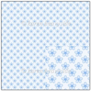 Blue Floral Backing Paper