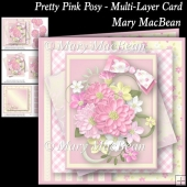 Pretty Pink Posy - Multi-Layer Card