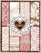 Lace Elegance Set of 8 Backing Background Papers