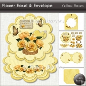 Flower Easel: Yellow Roses