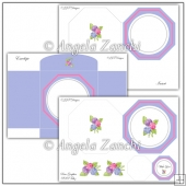 Blue and Pink Plate Card