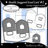 Double Staggered Easel Card Template #2