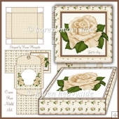 Cream Rose Notelet Set