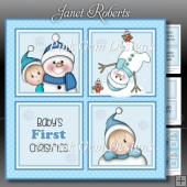 Baby Boy 1st Christmas Squares Mini Kit