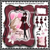 Burgandy And Black Girl Bracket Card Kit