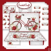 Roses and bike easel card set