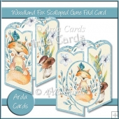 Woodland Fox Scalloped Gate Fold Card