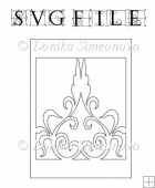 Damask 19 - SVG Cutting File