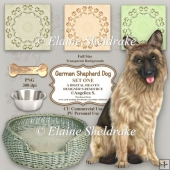 German Shepherd Dog - Set One - Designer Resource - CU/PU