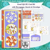 Good Life 3D Decoupage DL Complete Card Kit