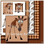 Cute Giraffe Decoupage