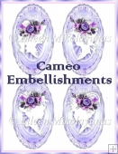 Cameo Embellishments Set of 4
