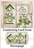 Cottage Chic Comforting Card Front with Decoupage