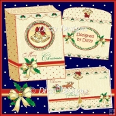 Christmas Bells & Blessings Book Card