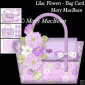 Lilac Flowers - Bag Card