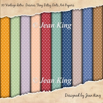 10 Vintage Retro Desires Tiny Ditsy Dots A4 Papers1