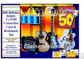 50th Birthday Guitars - Over The Edge Concertina Card Kit