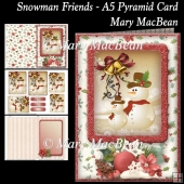 Snowman Friends - A5 Pyramid Card