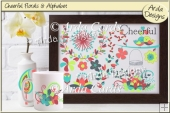Cheerful Florals & Alphabet