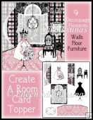 Create A Room Decoupage Card Topper