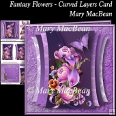 Fantasy Flowers - Curved Layers Card
