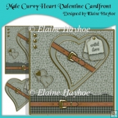 Male Curvy Heart Valentine Cardfront