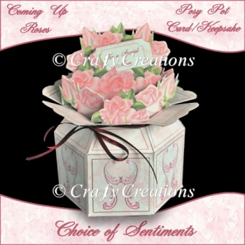 Coming Up Roses - Posy Pot Card/Keepsake