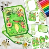 See You Later Alligator Shaped Easel Card