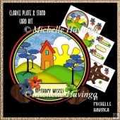 Clarice Plate & Stand Shaped Card Kit