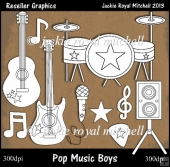 Pop Music Colour Your Own Reseller Clipart