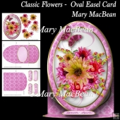 Classic Flowers - Oval Easel Card