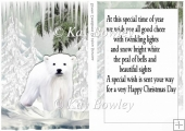 white polar bear in the snow A5 Card front with insert