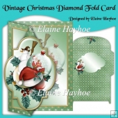Vintage Christmas Diamond Fold Card