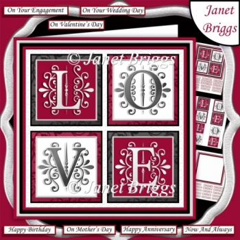 LOVE SQUARES All Occasions 7.5 Quick Layer Card & Insert