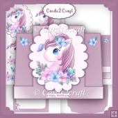 Little Unicorn stepper card set