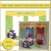 Super Duper Animals Double Window Box Card
