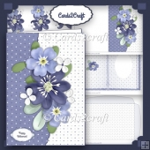 Purple flower card set