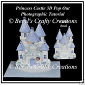Princess Castle Pop OUt Card - Photographic Tutorial