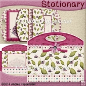 Stationary Bag Folder pink Flower