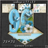 Vintage Easel 90th Birthday Card Kit 1180