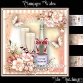 Champagne Wishes Card Front Kit