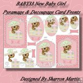 BABY33 New Baby Girl C6 Card Fronts