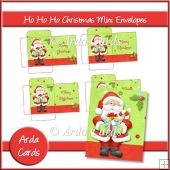 Ho Ho Ho Christmas Mini Envelopes
