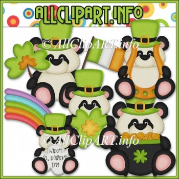 Little Irish Panda Bears Commerical Use Clip Art