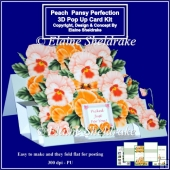 Peach Pansy Perfection - 3D Pop Up Card Kit