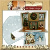 Christmas Fireplace Pop-Up *MACHINE & HAND Cut Files*